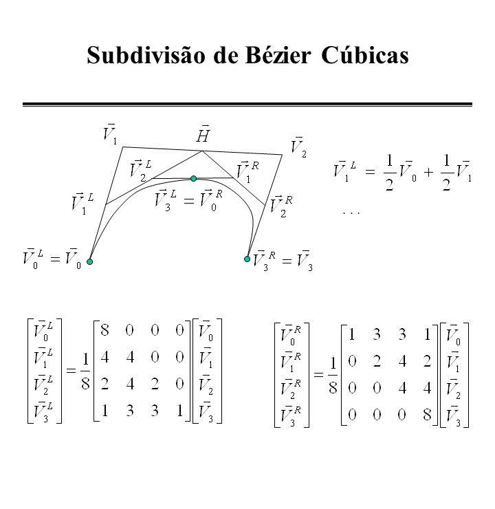 Subdivisão de Bézier Cúbicas