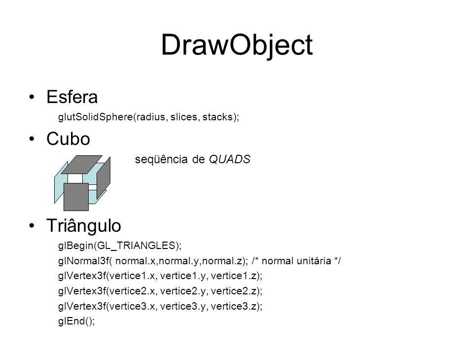 DrawObject Esfera Cubo Triângulo
