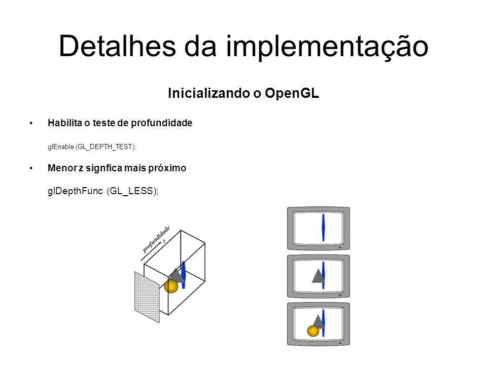 Detalhes da implementação