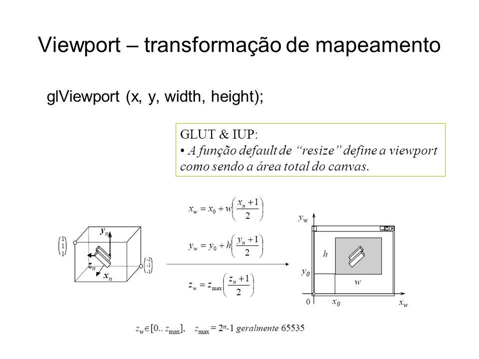 Viewport – transformação de mapeamento