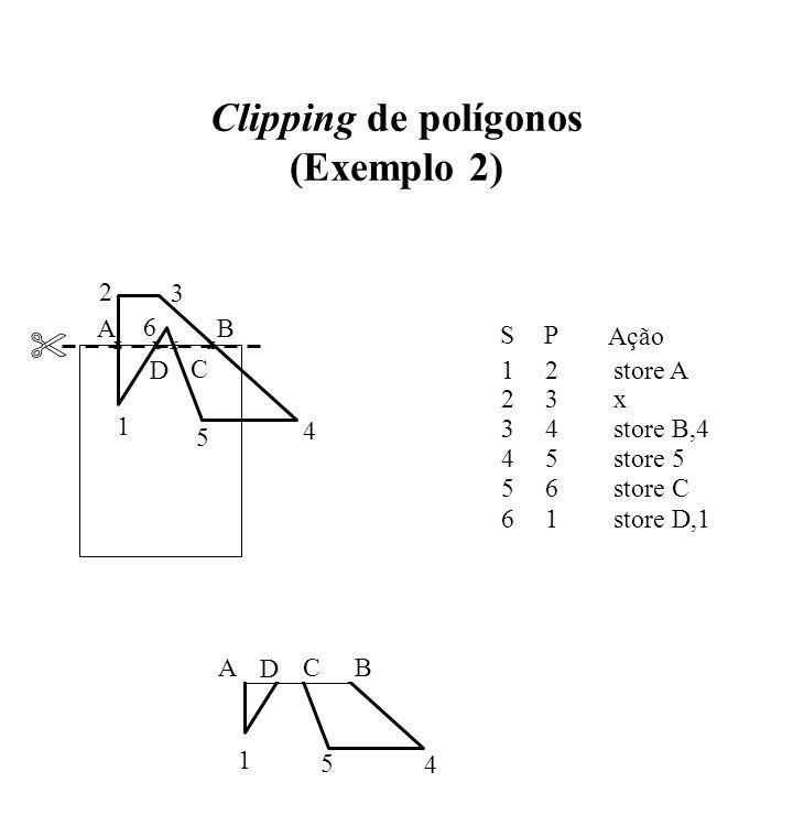 Clipping de polígonos (Exemplo 2)