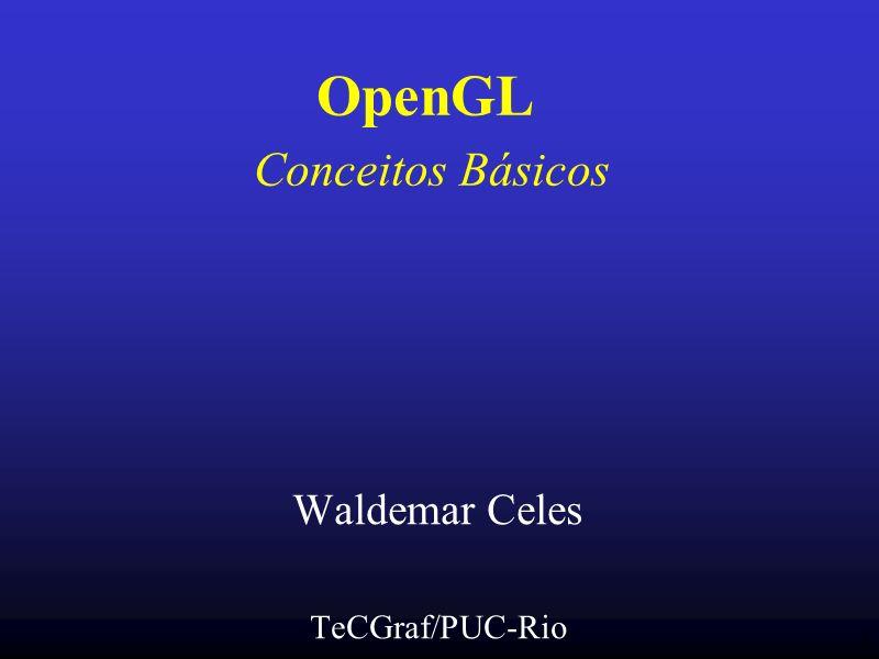 OpenGL Conceitos Básicos