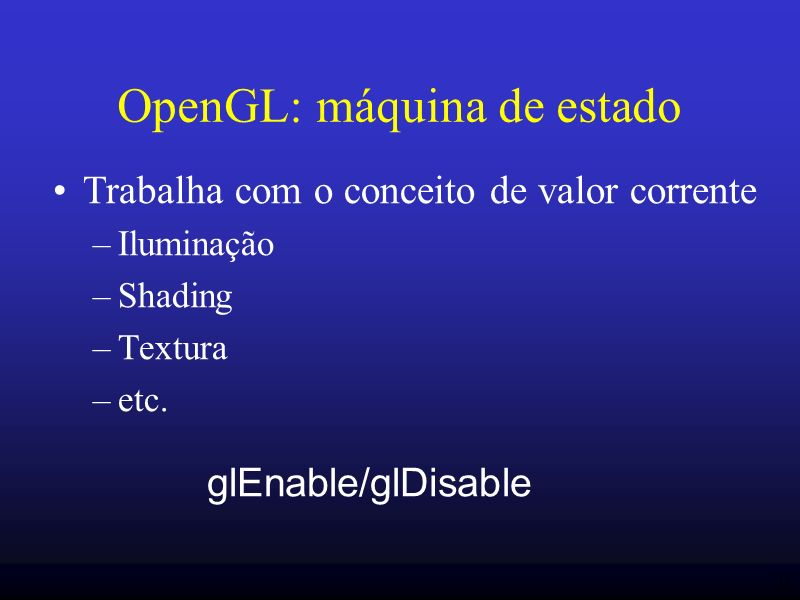 OpenGL: máquina de estado
