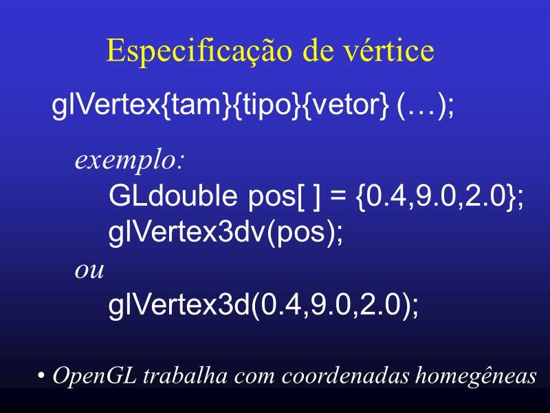 Especificação de vértice