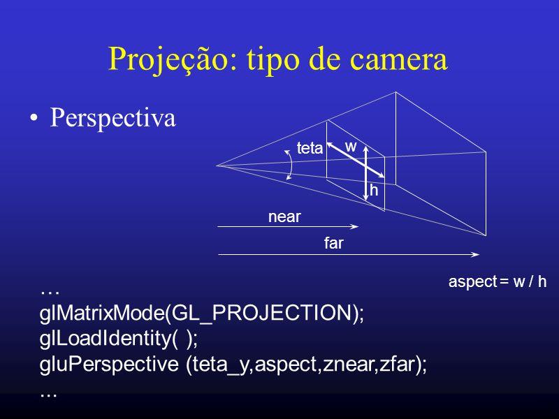 Projeção: tipo de camera