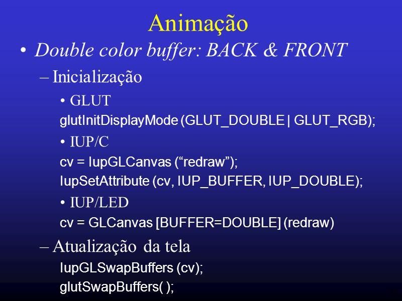Animação Double color buffer: BACK & FRONT Inicialização
