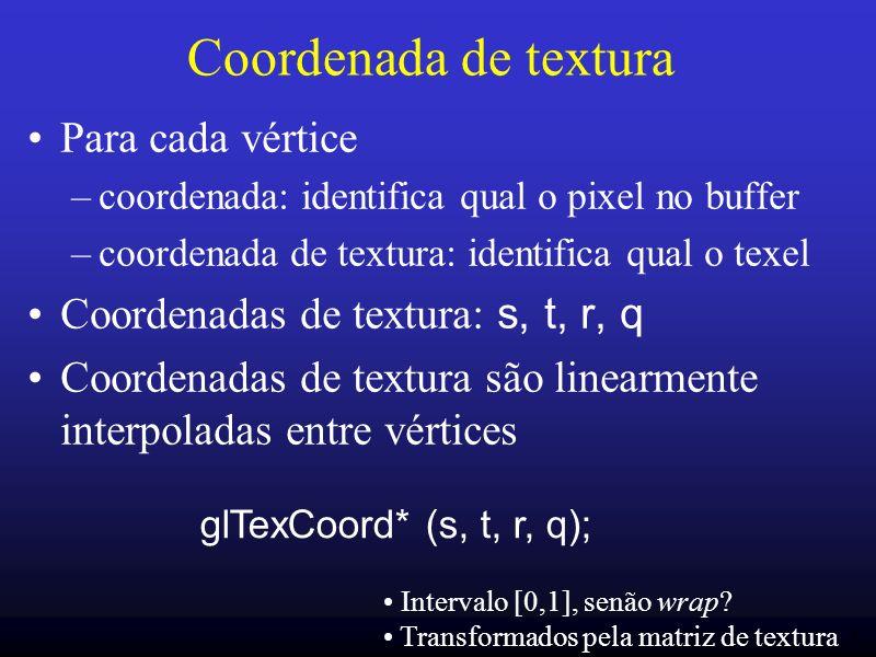Coordenada de textura Para cada vértice