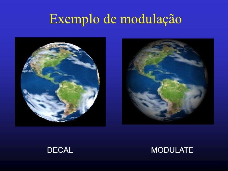 Exemplo de modulação DECAL MODULATE