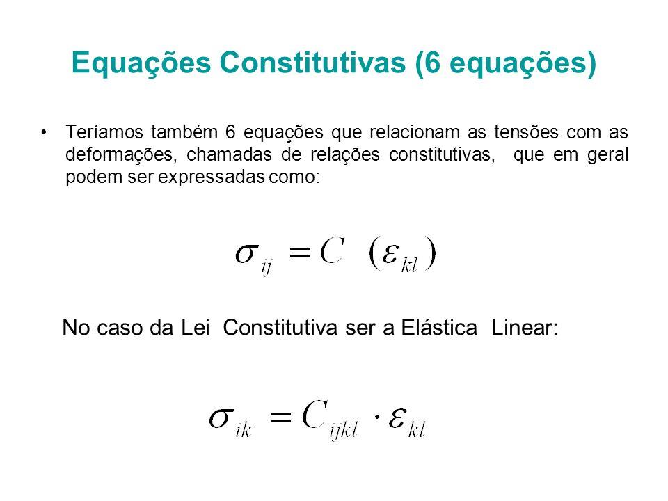 Equações Constitutivas (6 equações)