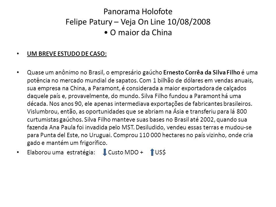 Panorama Holofote Felipe Patury – Veja On Line 10/08/2008 • O maior da China
