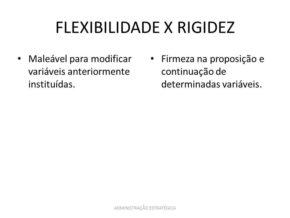 FLEXIBILIDADE X RIGIDEZ