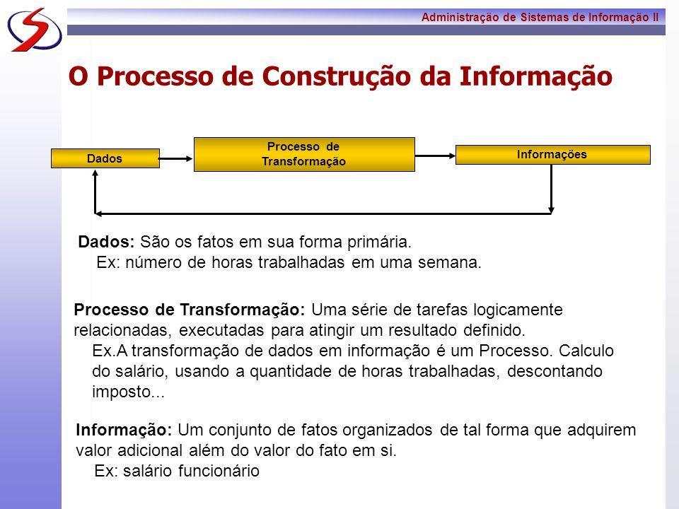 O Processo de Construção da Informação