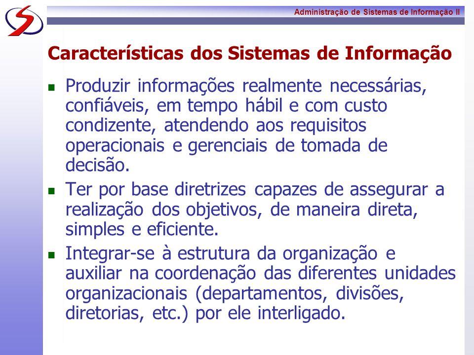 Características dos Sistemas de Informação
