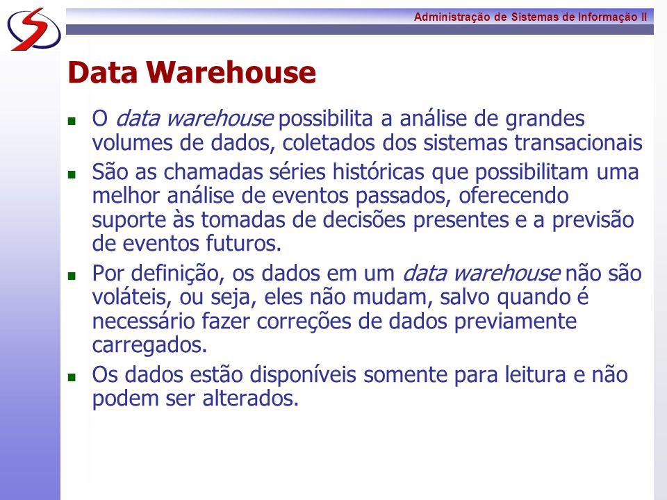 Data WarehouseO data warehouse possibilita a análise de grandes volumes de dados, coletados dos sistemas transacionais.