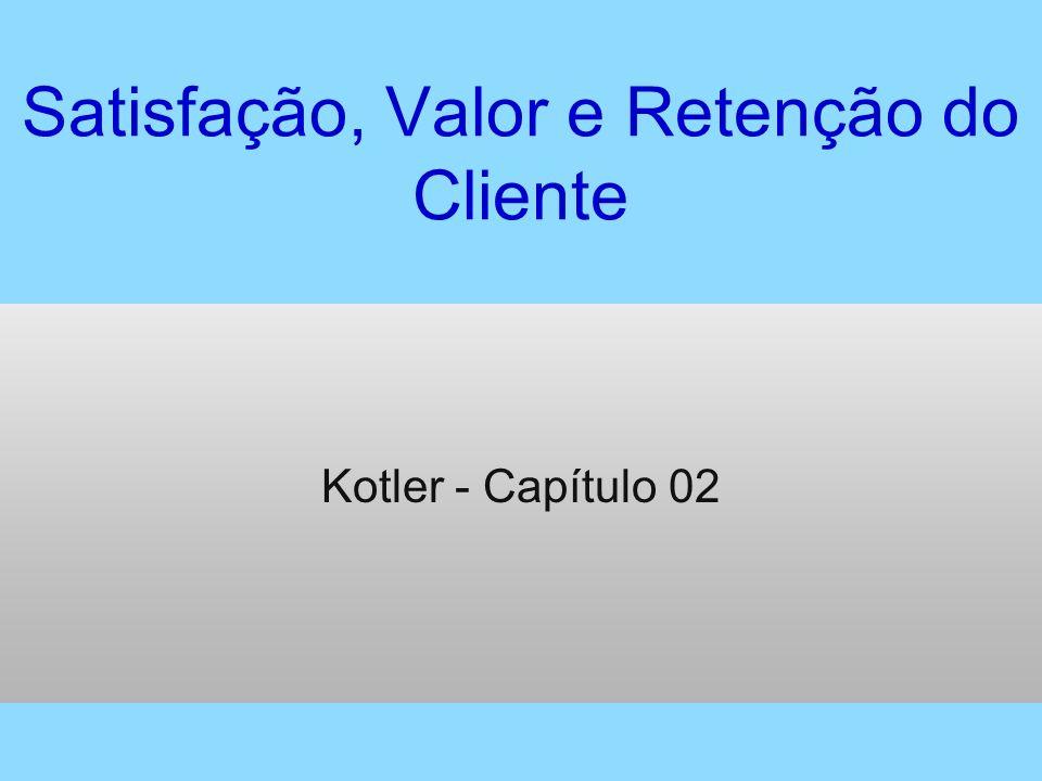 Satisfação, Valor e Retenção do Cliente