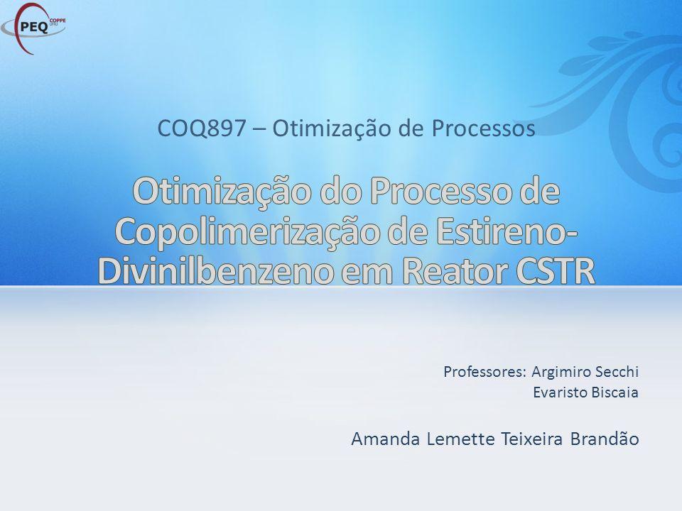 COQ897 – Otimização de Processos