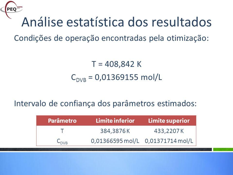 Análise estatística dos resultados