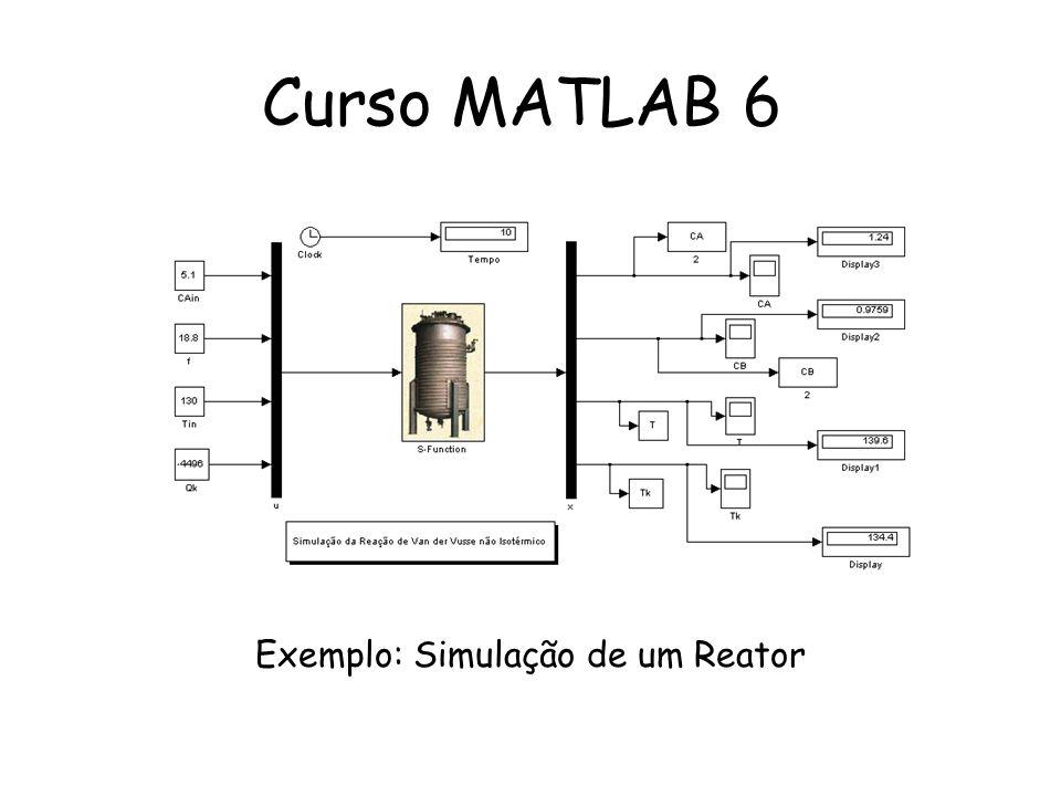 Exemplo: Simulação de um Reator