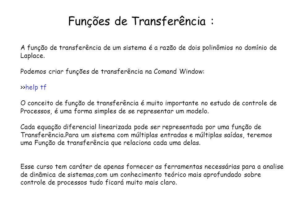 Funções de Transferência :