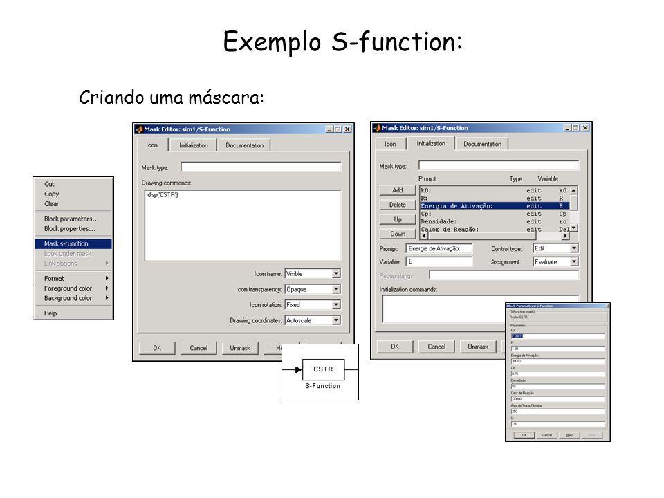 Exemplo S-function: Criando uma máscara: