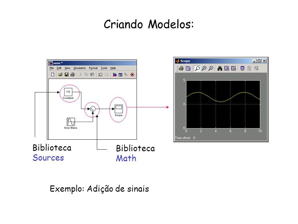 Criando Modelos: Biblioteca Biblioteca Sources Math