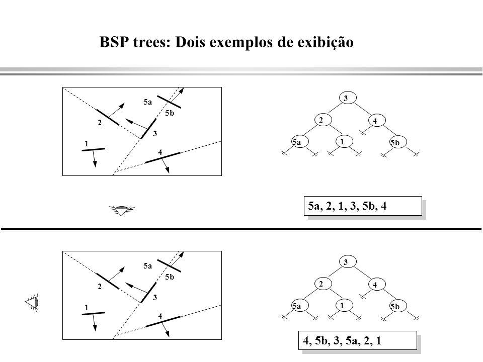 BSP trees: Dois exemplos de exibição