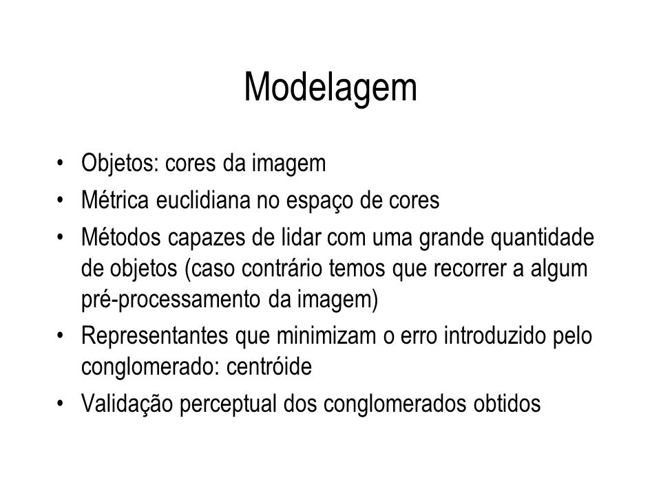 Modelagem Objetos: cores da imagem