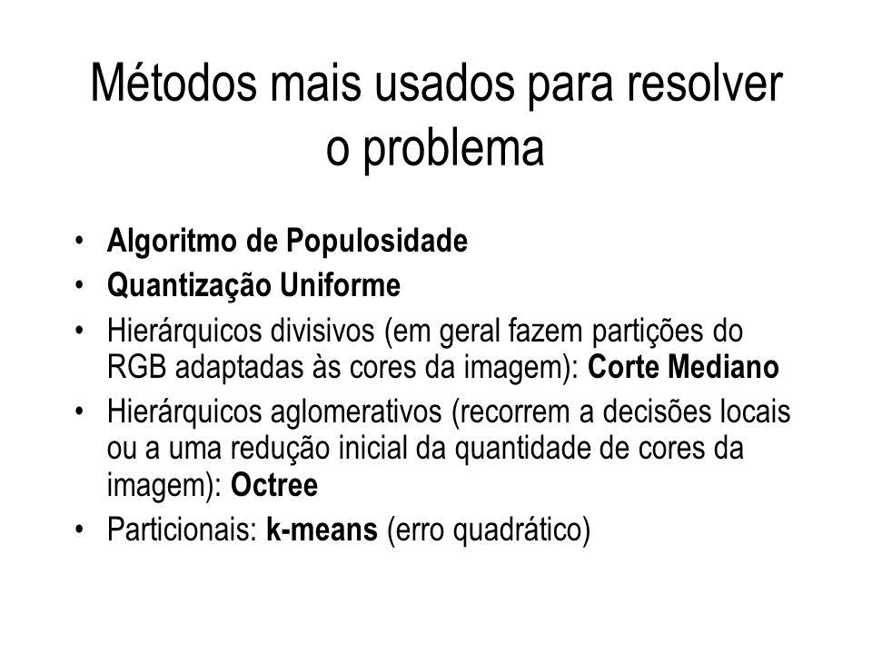 Métodos mais usados para resolver o problema
