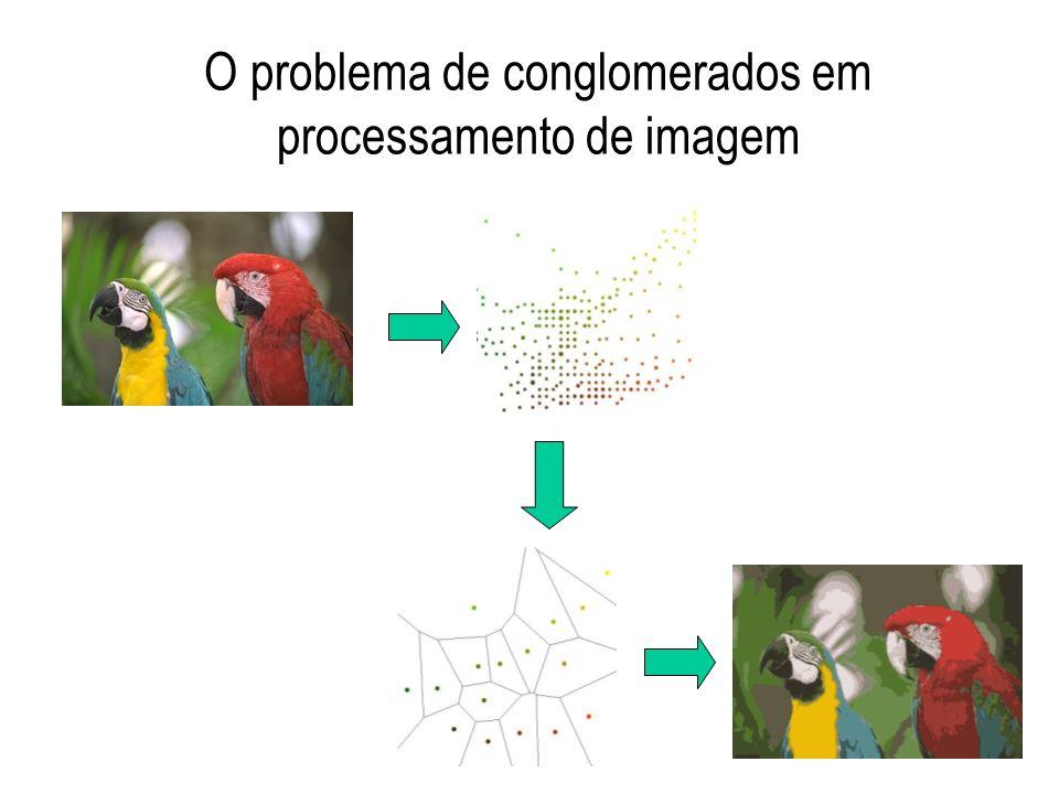 O problema de conglomerados em processamento de imagem