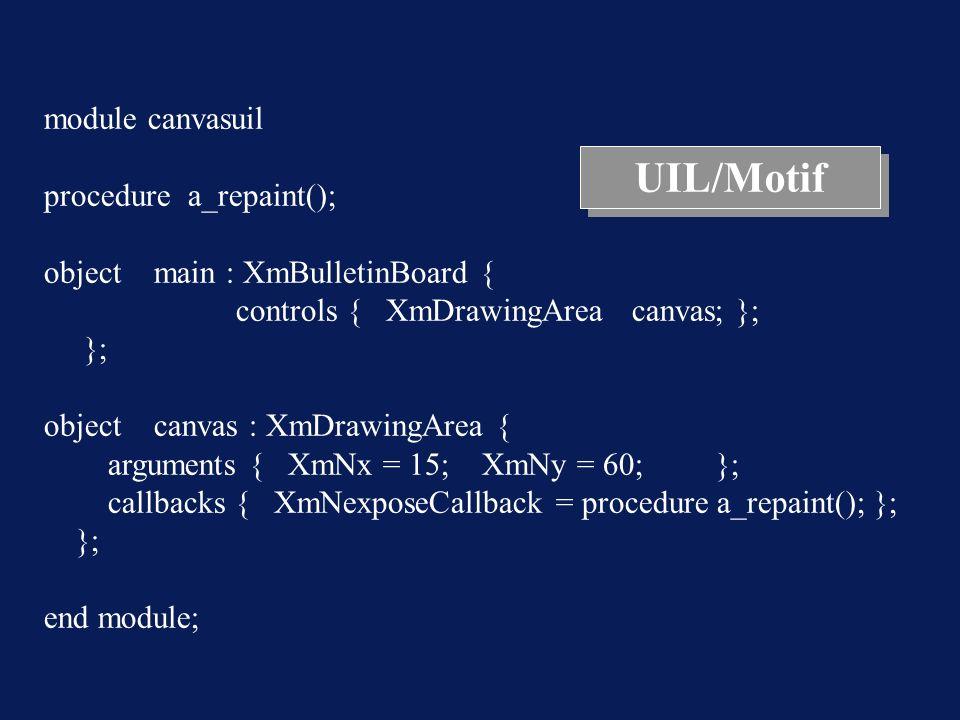 UIL/Motif module canvasuil procedure a_repaint();