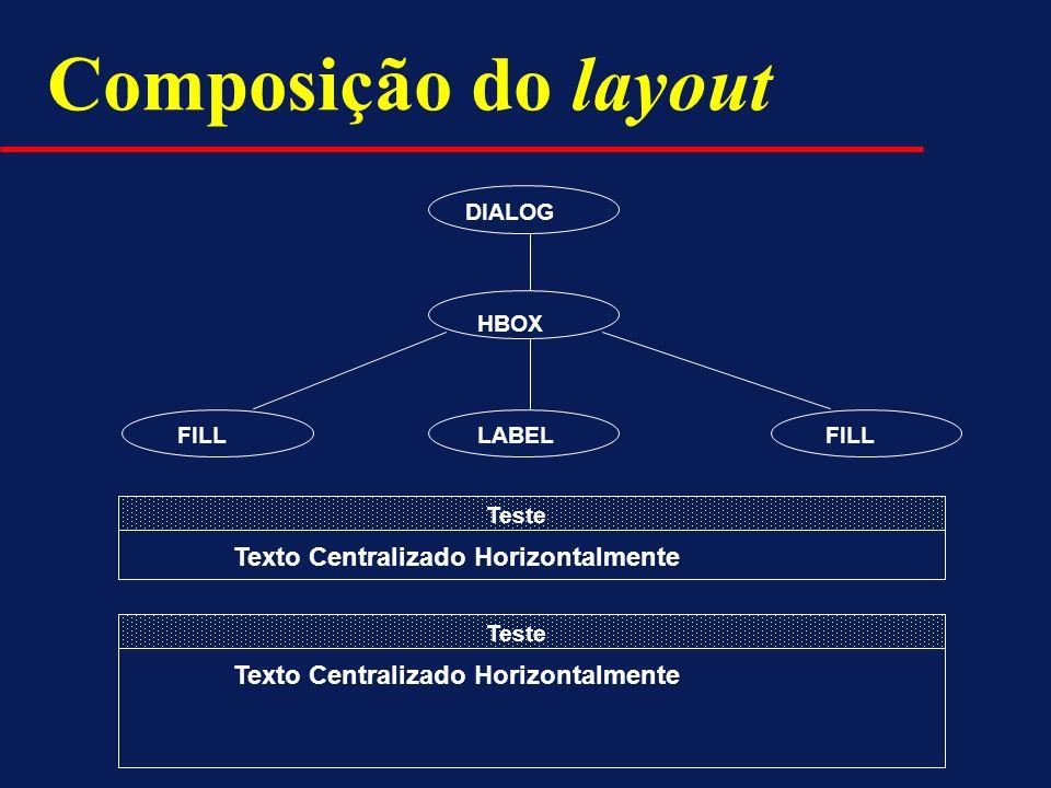 Composição do layout Texto Centralizado Horizontalmente