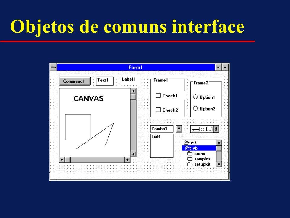 Objetos de comuns interface
