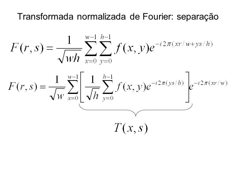 Transformada normalizada de Fourier: separação