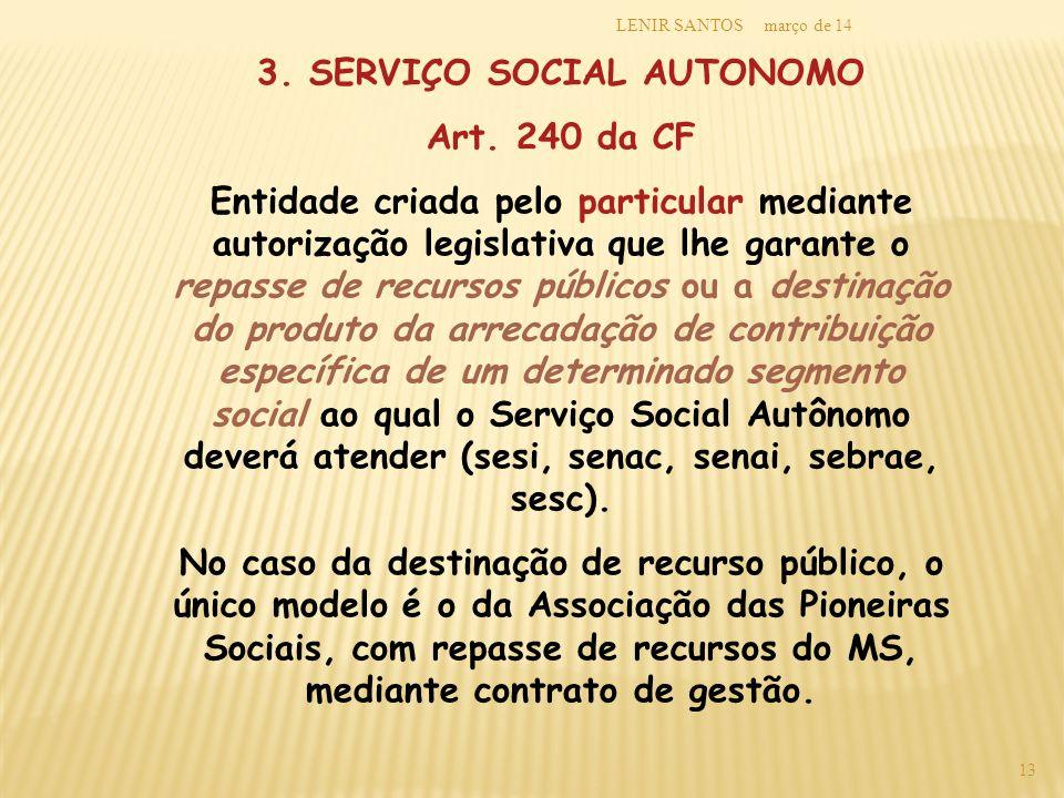 3. SERVIÇO SOCIAL AUTONOMO