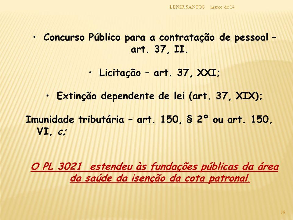 Concurso Público para a contratação de pessoal – art. 37, II.