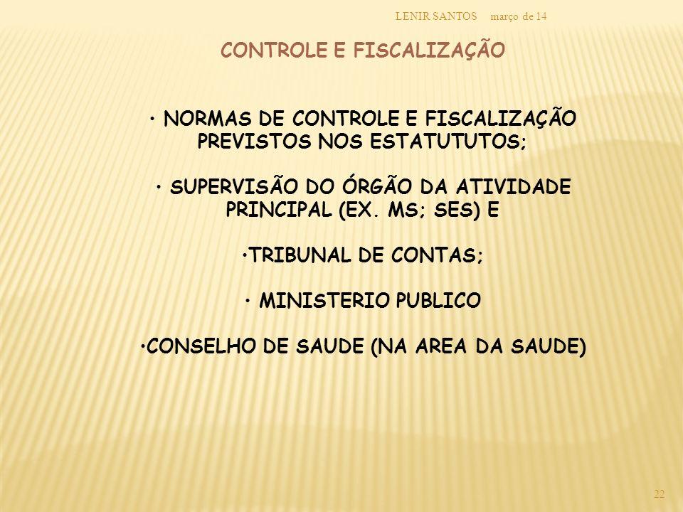 CONTROLE E FISCALIZAÇÃO