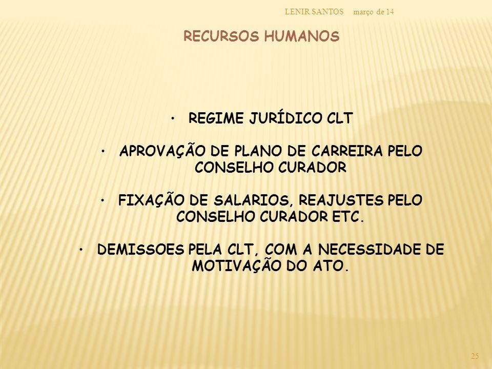 APROVAÇÃO DE PLANO DE CARREIRA PELO CONSELHO CURADOR