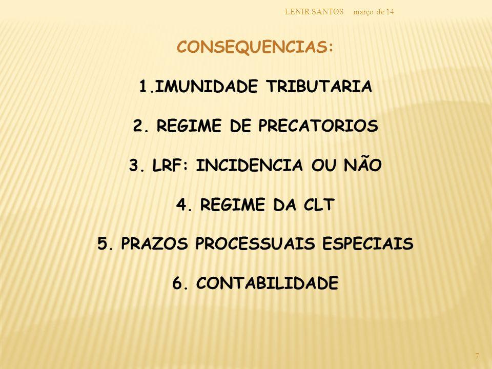 5. PRAZOS PROCESSUAIS ESPECIAIS