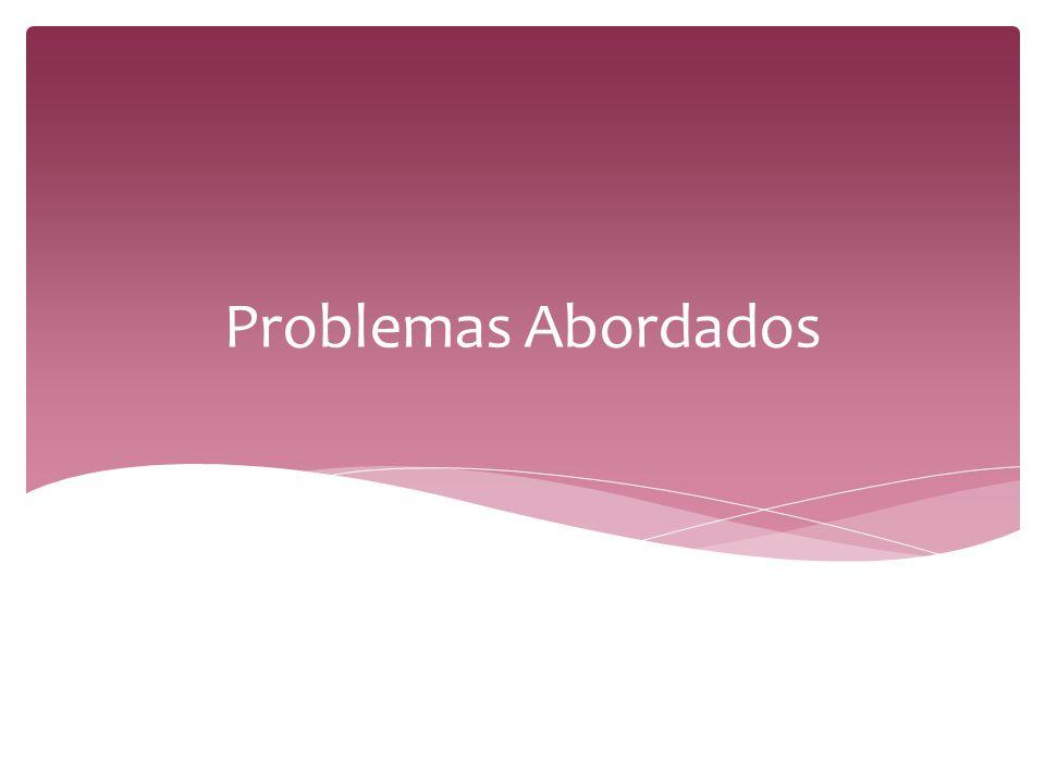Problemas Abordados