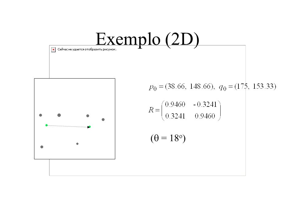 Exemplo (2D) (q = 18o)