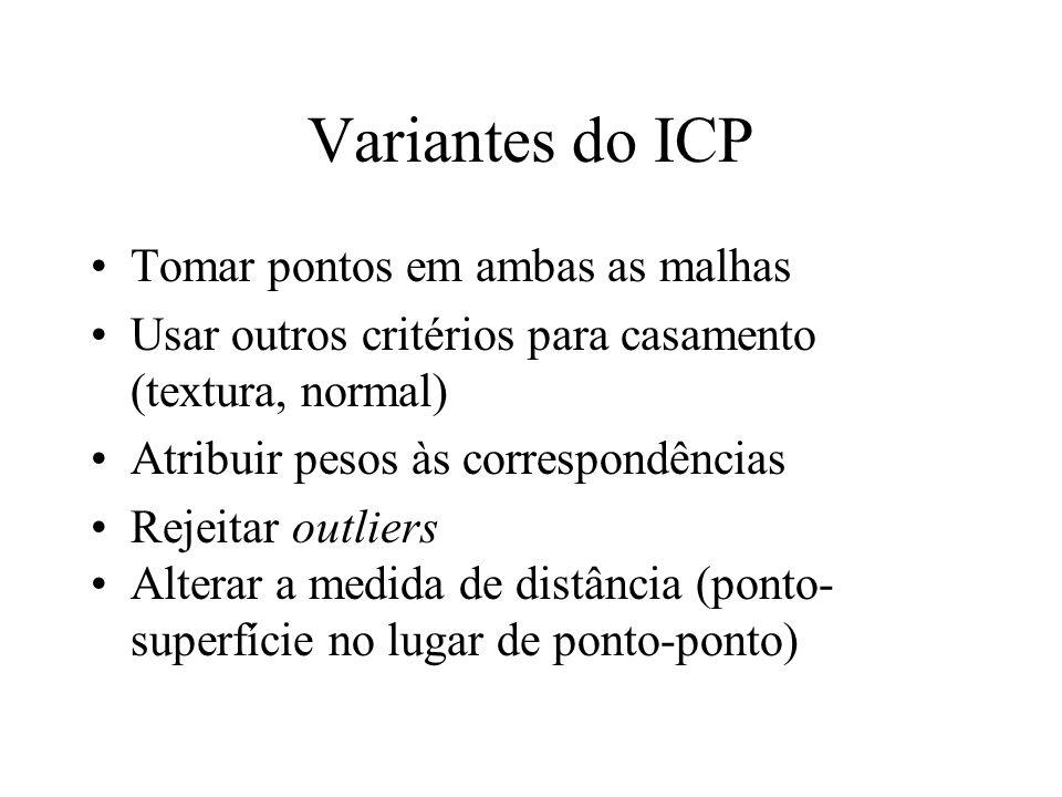 Variantes do ICP Tomar pontos em ambas as malhas