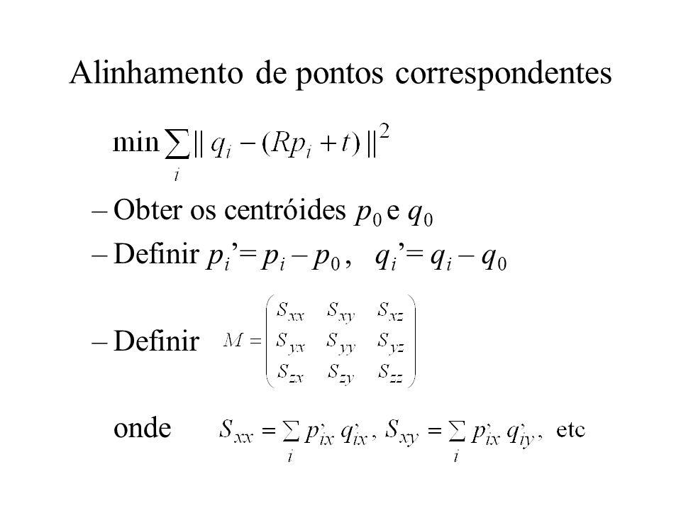Alinhamento de pontos correspondentes