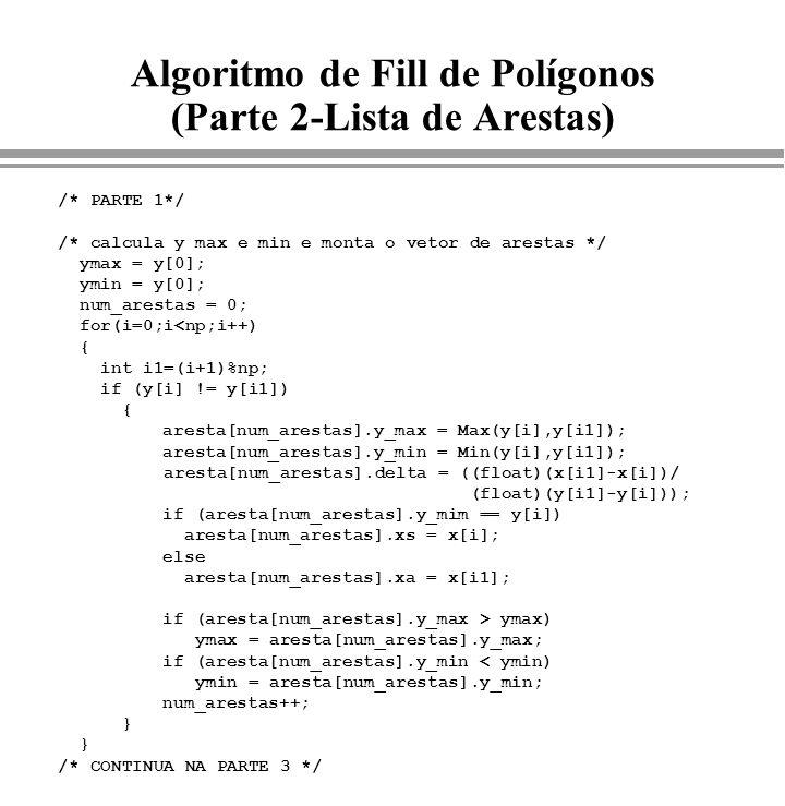 Algoritmo de Fill de Polígonos (Parte 2-Lista de Arestas)