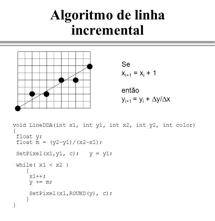 Algoritmo de linha incremental
