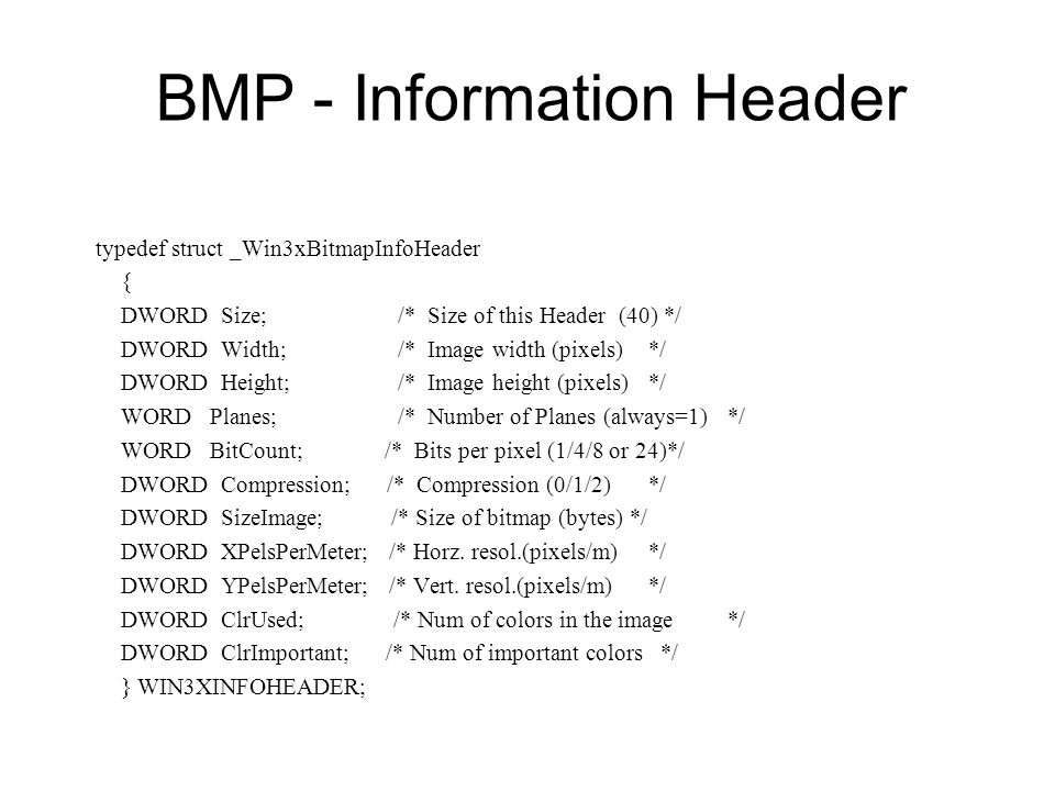 BMP - Information Header