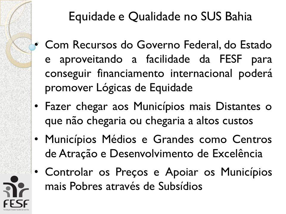 Equidade e Qualidade no SUS Bahia