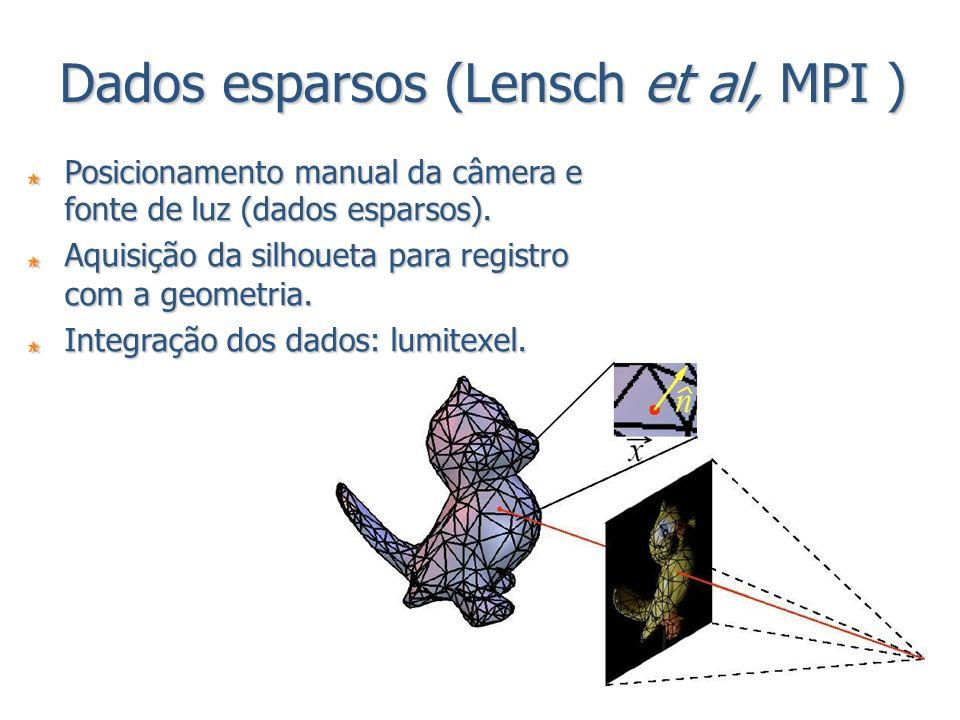 Dados esparsos (Lensch et al, MPI )