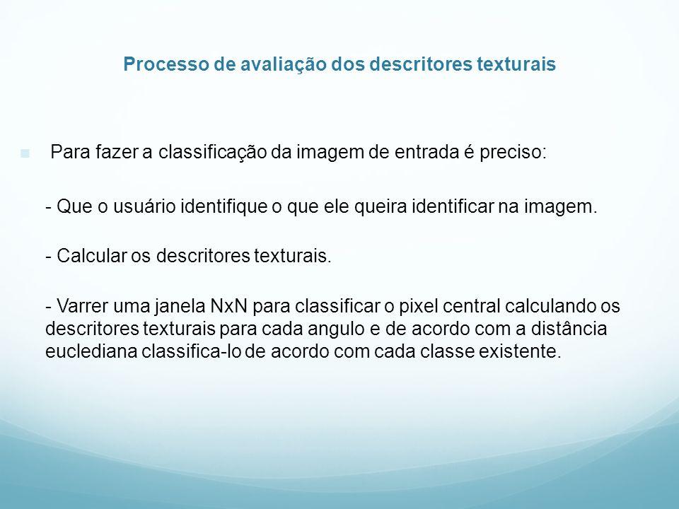 Processo de avaliação dos descritores texturais