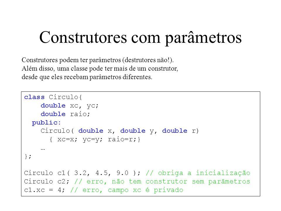 Construtores com parâmetros