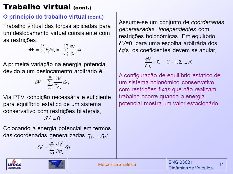 Trabalho virtual (cont.)